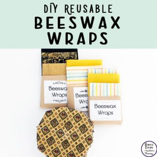 A great, green alternative to disposable cling-wrap is beeswax wraps. They are so easy to make, though can be a little fiddly at times, but they work great.