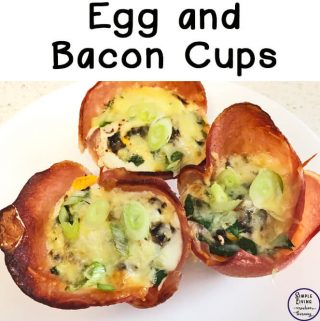 These egg and bacon cups are a great way to start the day. I love that I can make them ahead and just reheat when we want them.