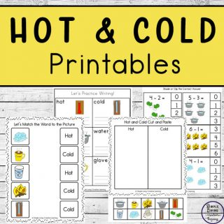 This fun Hot and Cold Printable Pack is a great way to teach young children about the difference between hot objects and cold ones. Children in kindergarten, preschool and grades 1 would enjoy learning with these worksheets.