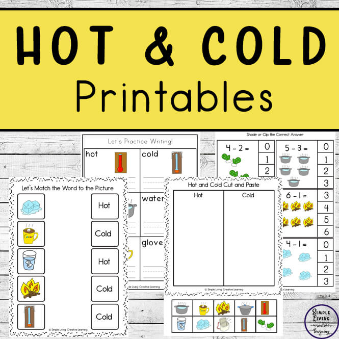 Hot and Cold Printable Pack
