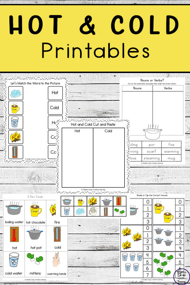 Hot And Cold Printable Pack - Simple Living. Creative Learning