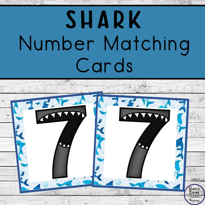 These fun printable shark number matching cards are going to help your children learn their numbers from 0 - 20 in no time.