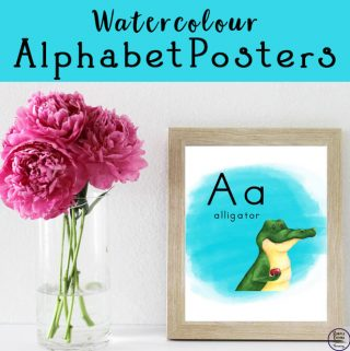 Watercolour Alphabet Wall Posters