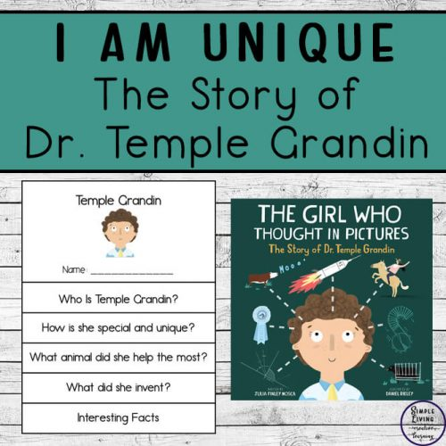 After reading The Story of Dr. Temple Grandin, children can then look at how special and unique they are with these great I am Unique printables.