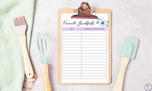 This gorgeous Menu Planning Binder will allow you to create lovely home-cooked meals by planning in advance and helping you save money in the process.