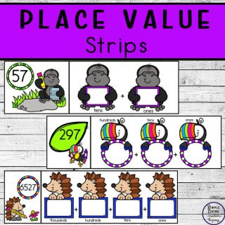 Enjoy learning place value with these three sets of place value strips. The place values included are thouands, hundreds, tens and ones.