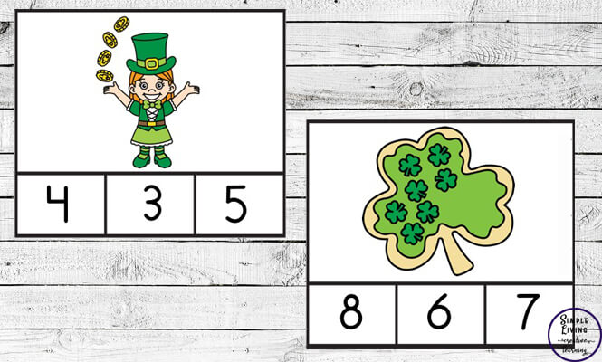 Preschoolers and toddlers will love these St. Patrick's Day Counting Cards! This hands-on activity is fun and can be used multiple times. This activity focuses on counting the numbers 1 – 10.