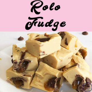 With only four ingredients, this soft and delicious Rolo Fudge is so very quick and easy to make. The hardest part is waiting for it to set!