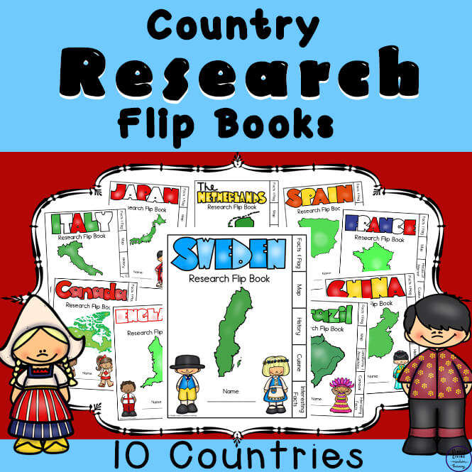 Country Research Flip Books.