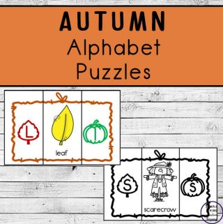A fun way to learn the letters of the alphabet this Autumn or Fall is with these Autumn / Fall Alphabet Puzzles.