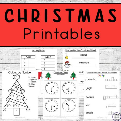 Christmas is on the way and what better way to review math and literacy concepts that have been learned, than with these Christmas Printables.