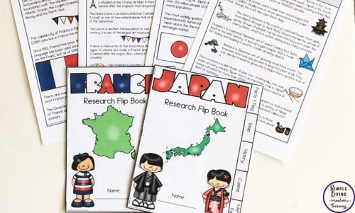 A great way to learn about ten different countries of the world and their cultures is with these awesome Country Research Flip Books.