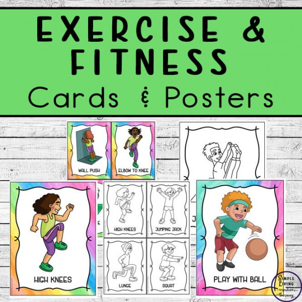 These exercise and fitness cards are a fun way to get kids moving. Use them during holidays, as brain breaks or just as fun activities as part of games.
