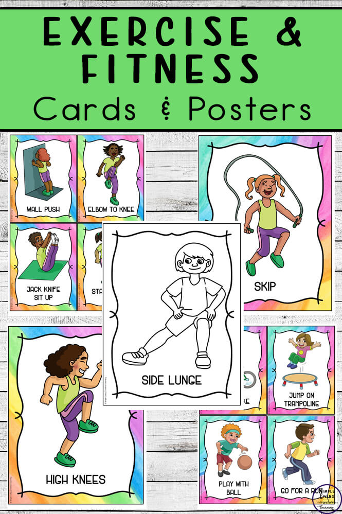 Exercise And Fitness Cards To Get Kids Moving Simple Living Creative Learning