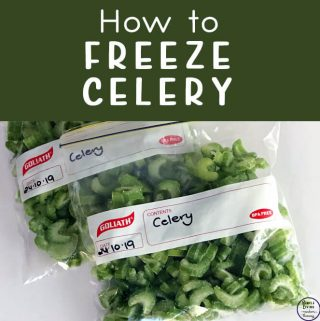 Celery doesn't stay crisp forever, so instead of throwing it away, why not try freezing your excess celery to use at a later date.