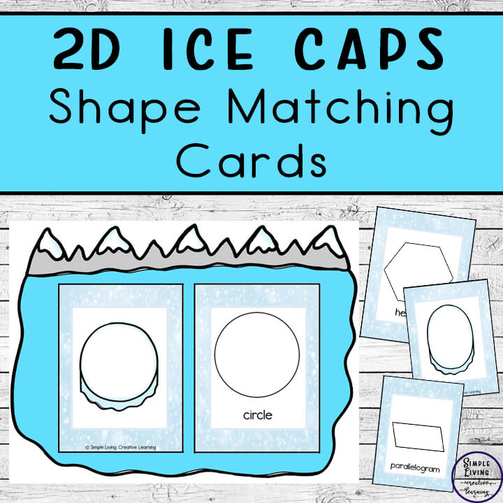 These cool 2d ice cap shape matching cards are a great way to introduce children to fifteen different 2d shapes; using them in matching and memory games.