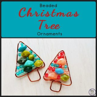 This gorgeous beaded Christmas Tree is a fun little craft that will make great decorations for your tree or table this Christmas.