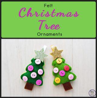 Felt Christmas Tree Ornaments