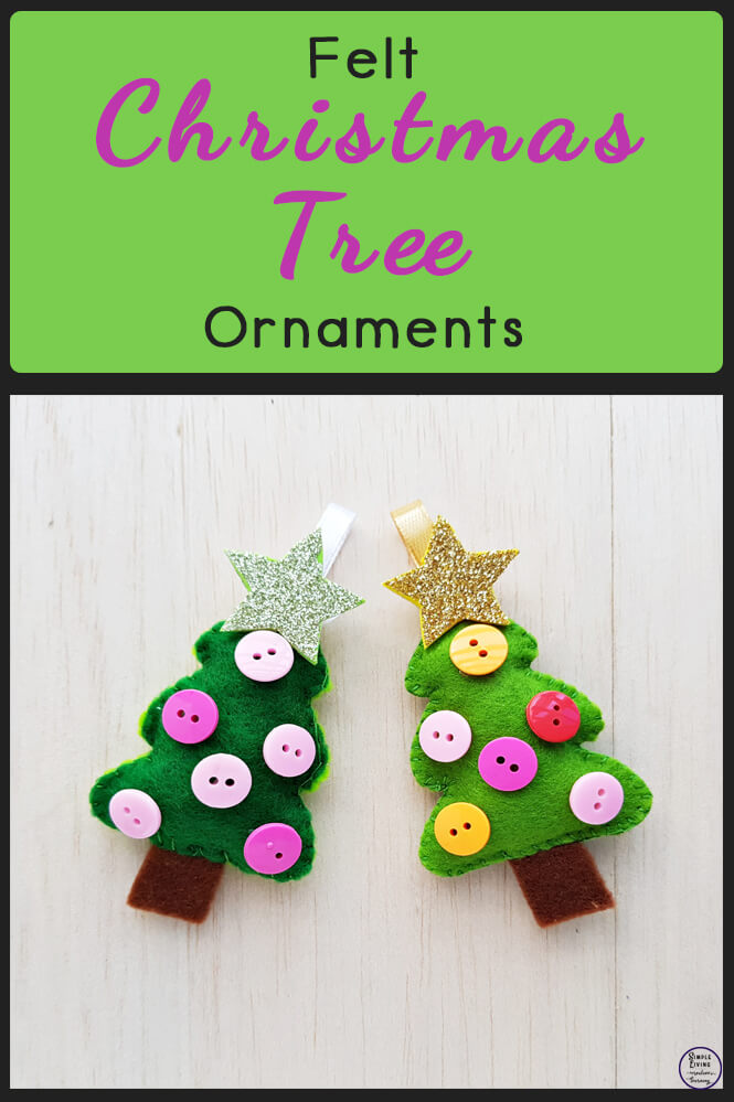 This gorgeous Felt Christmas Tree is a fun little craft that will make great decorations for your tree or table this Christmas.