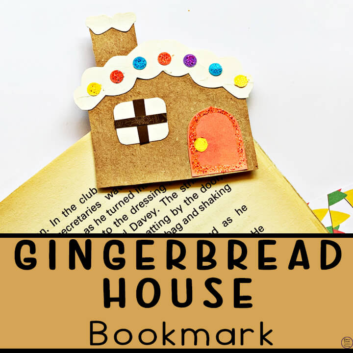 gingerbread house bookmark