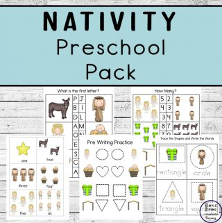 Children in preschool (and kindergarten) will enjoy working on their math and literacy skills while completing these Nativity Preschool Pack.