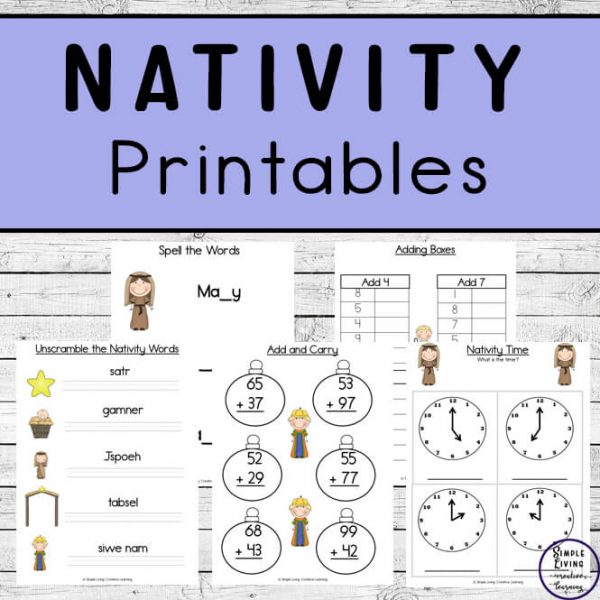 Children in grades 1 - 3, will enjoy working on their math and literacy skills while completing these Nativity Printables.
