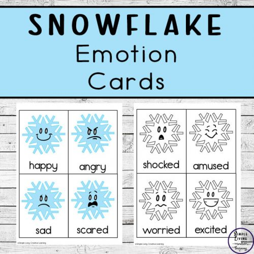 These Snowflake Emotion Flashcards are useful for teaching children to identify their feelings, express themselves and to recognise others feelings as well.