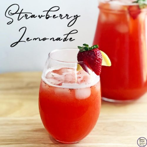 This easy and refreshing homemade Strawberry Lemonade, made from fresh fruit, is lovely to drink on a hot day.