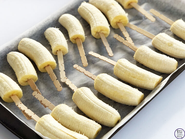 Frozen Chocolate Coated Bananas