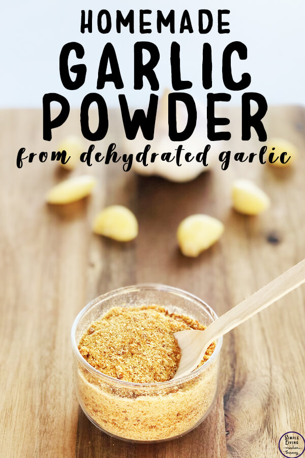 Dehydrated garlic made into garlic powder