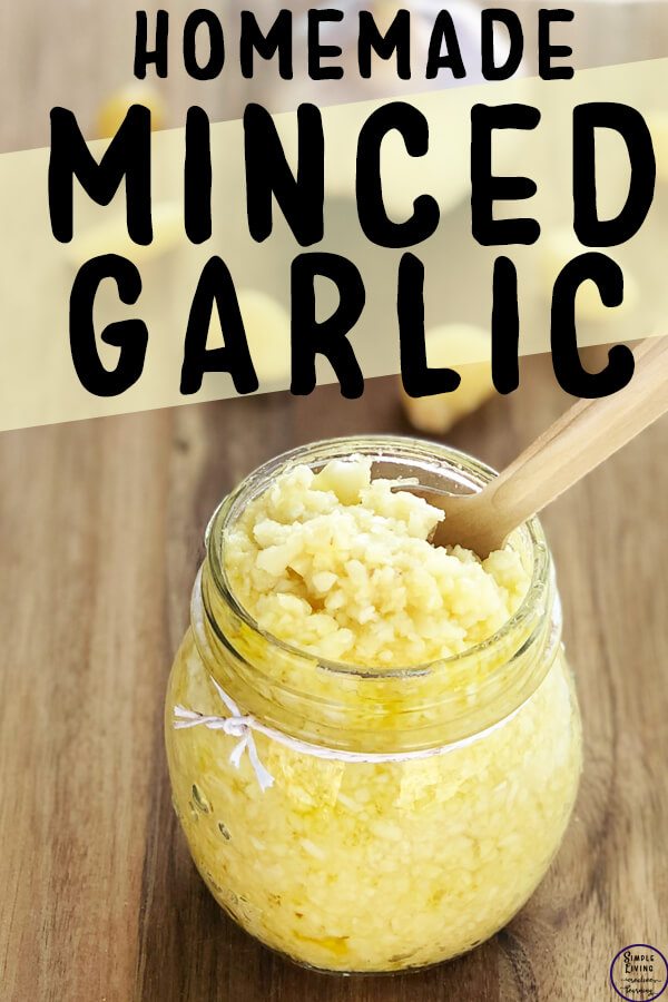 homemade minced garlic