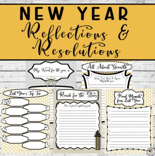 Reflection on the past year and start the new year with wonderful resolutions with these gorgeous New Year Reflections and Resolutions printables.