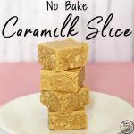 no bake caramilk slice