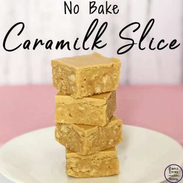 no bake caramilk slice