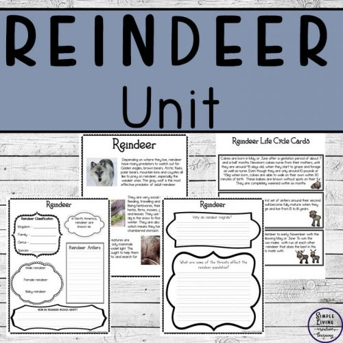 This Reindeer Unit Study is a fun way for children of a variety of ages to learn about these herbivores who love to migrate long distances.