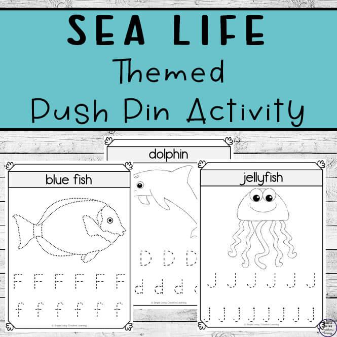 Sea Life Push Pin Worksheets