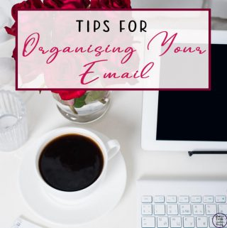 organise email on computer