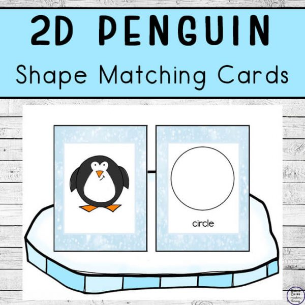2D Penguin Shape Matching Cards