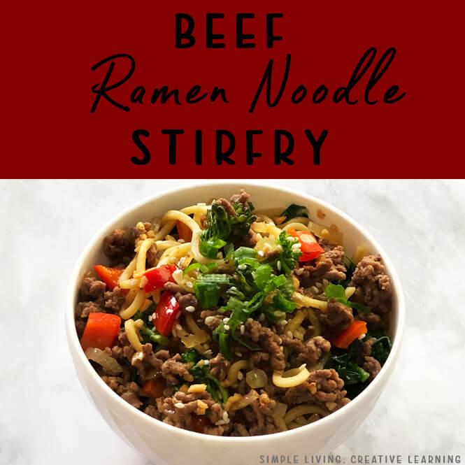 Beef Ramen Noodle Stir Fry