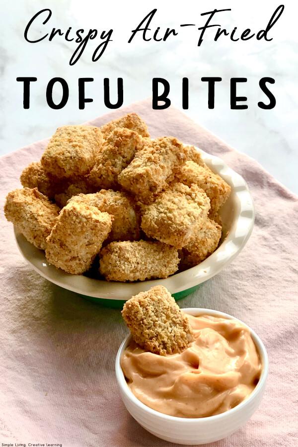 Crispy Air-Fried Tofu Bites