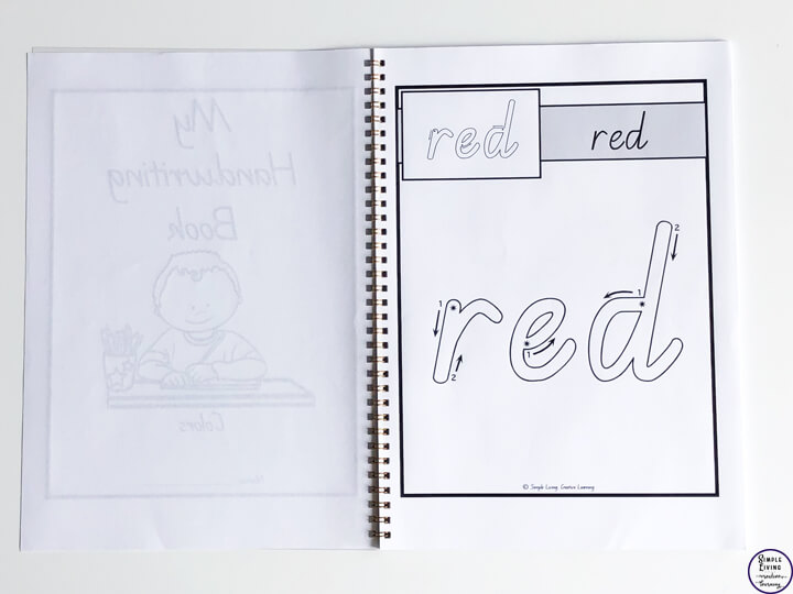 My Handwriting Book ~ Colours