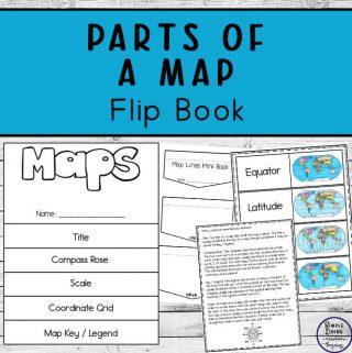 Parts of a Map Flip Book