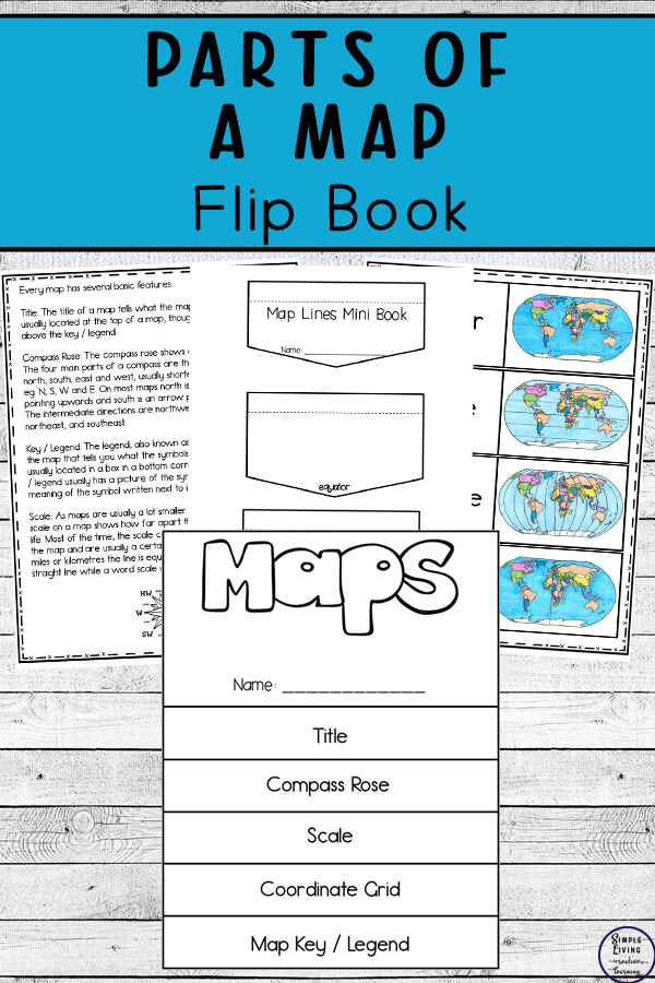 Parts of a Map Flip Book