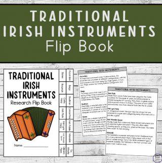 Traditional Irish Instruments Flip Book