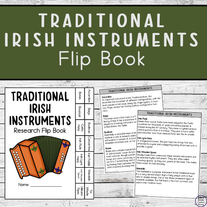 Traditional Irish Instruments Flip Book
