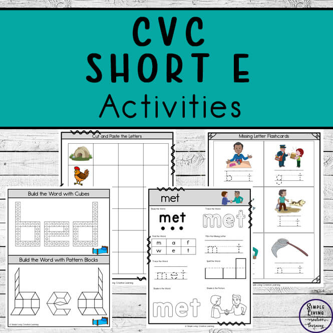 CVC ~ Short E Activities