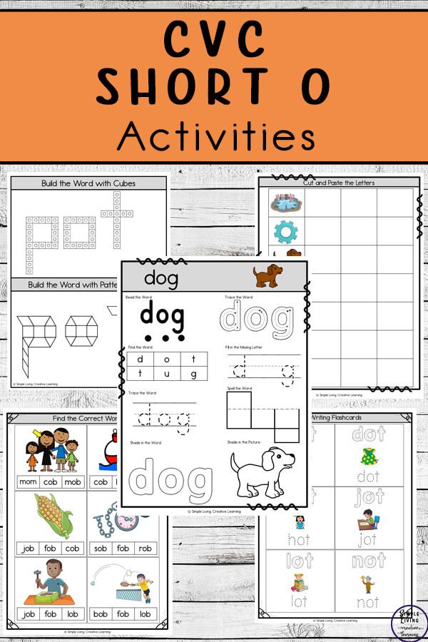 CVC ~ Short O Activities