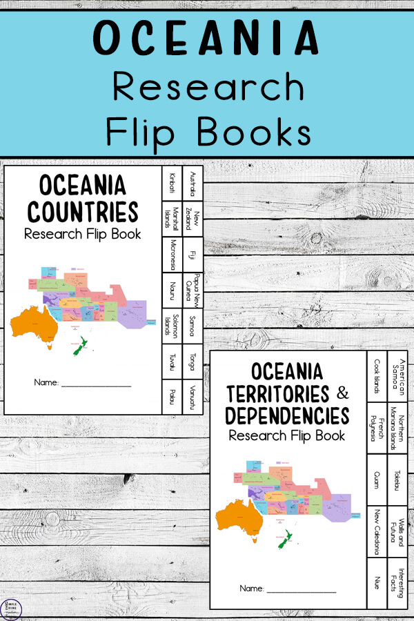 Oceania Research Flip Books