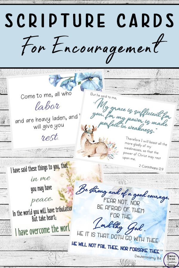 Scripture Cards for Encouragement