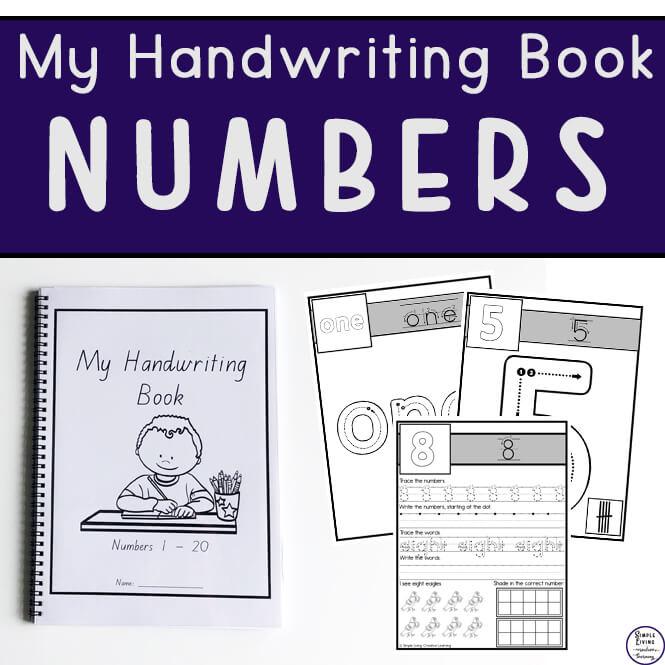 My Handwriting Book ~ Numbers